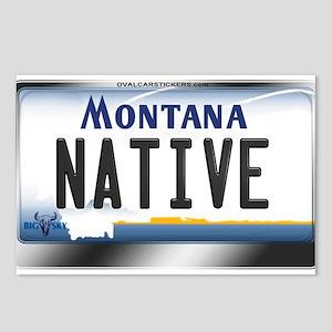 Montana License Plate - [NATIVE] Postcards (Packag